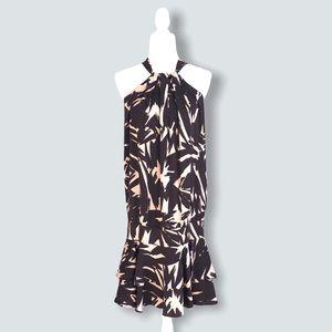 Diane Von Furstenberg Silk Drop Waist Halter Dress